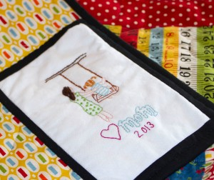 Deb's quilt label www.lifeatthecottage.com