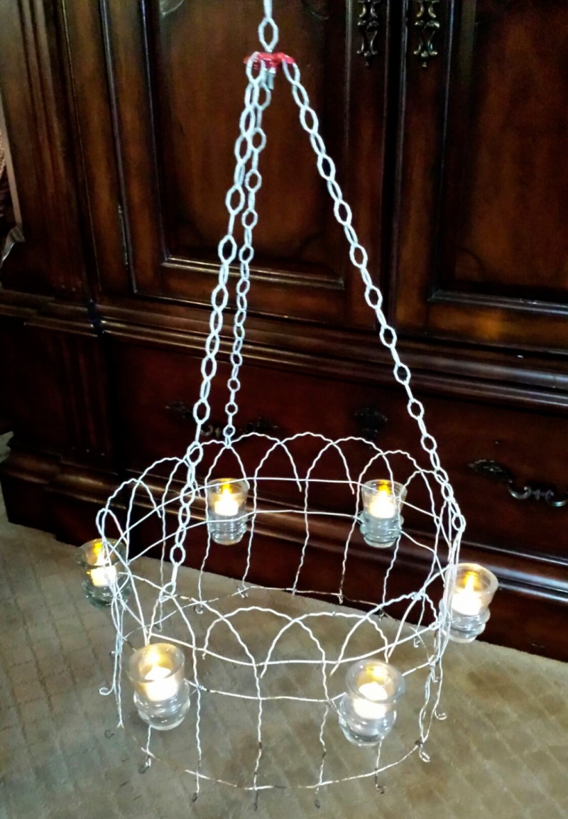 Up-cycled garden light www.lifeatthecottage.com