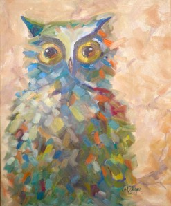 Owl Painting from www.lifeatthecottage.com