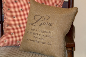 Love Defined Pillow www.lifeatthecottage.com