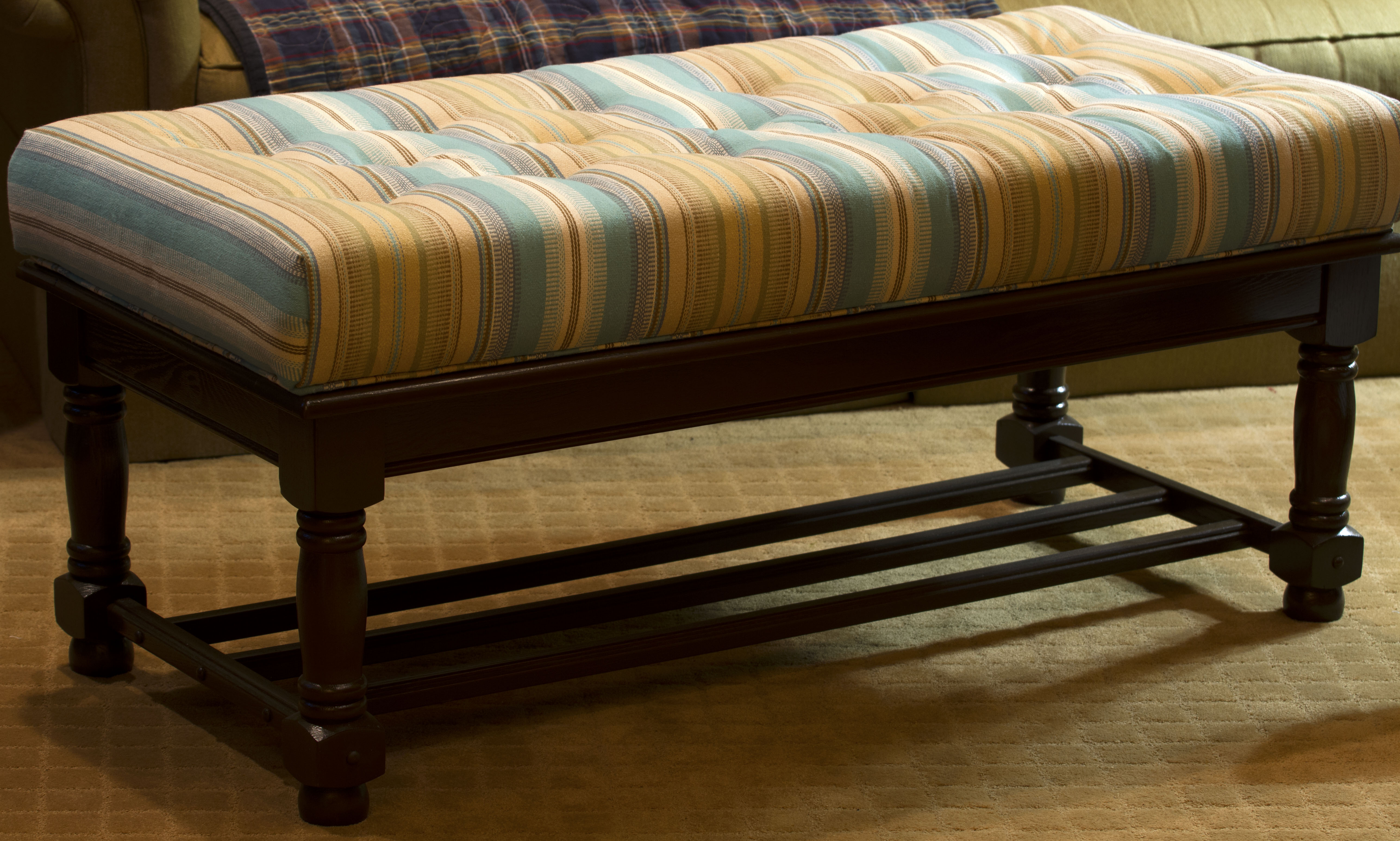 From Coffee Table to Upholstered Bench Life at the Cottage