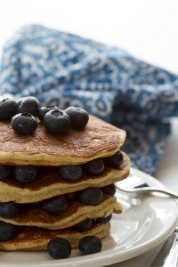 Gluten Free Pancakes With Blue Berries www.lifeatthecottage.com