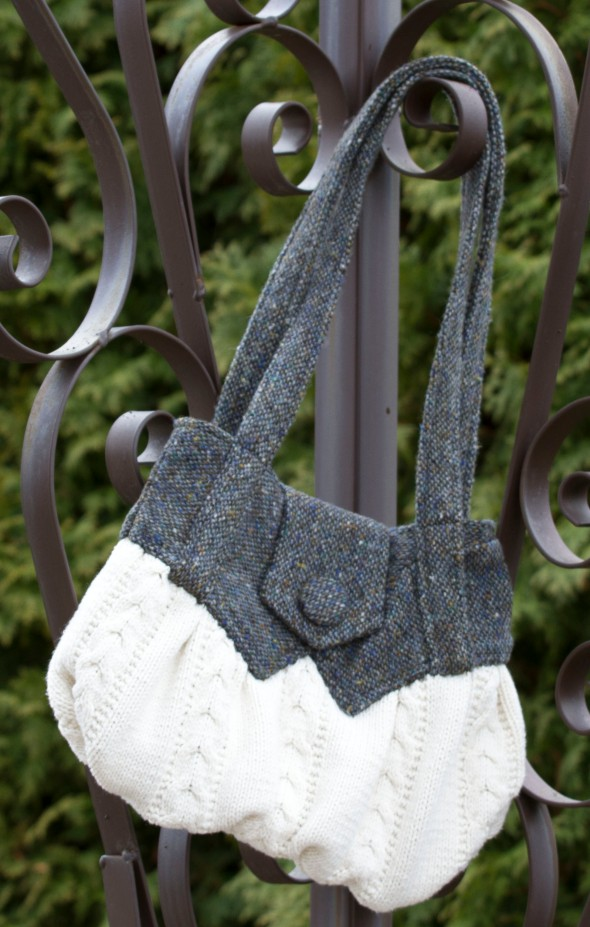 Up-cycle old clothing into a new bag. www.lifeatthecottage.com