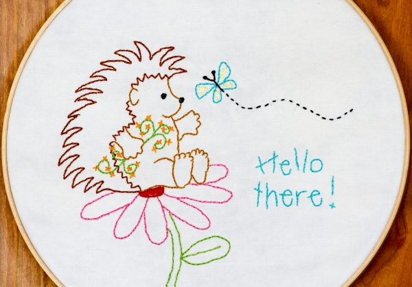 Hedgehog quilt block 2, Hello There www.lifeatthecottage.com