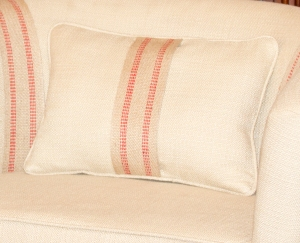 Lumbar Pillow with Webbing Accent www.lifeatthecottage.com