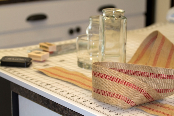 Gift Jars with Webbing www.lifeatthecottage.com