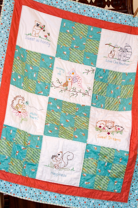 Baby Quilt www.lifeatthecottage.com